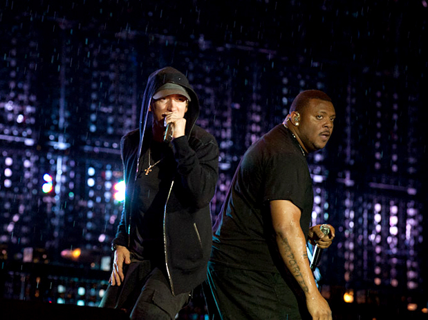 Eminem e Mr. Porter se apresentam no F1 Rocks SP