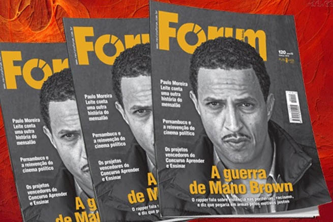 Mano Brown na revista Fórum