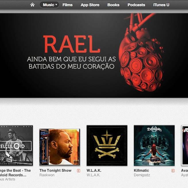 Novo CD do Rael é destaque na iTunes Store