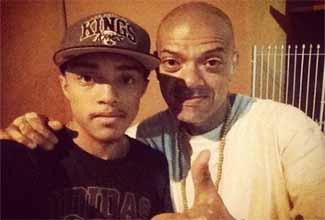 DJ KL Jay e o filho DJ Kalfani