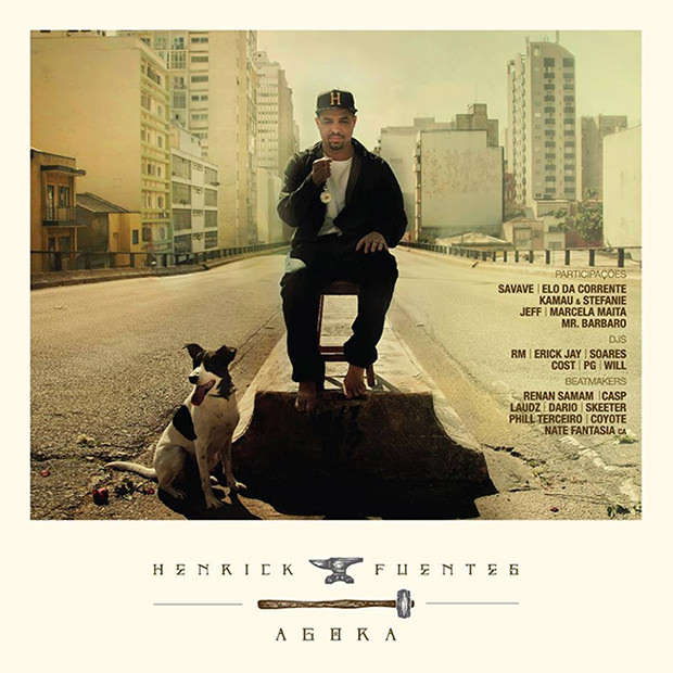 Capa do CD Agora, do Henrick Fuentes