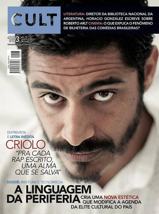 Criolo é capa da Revista Cult 183