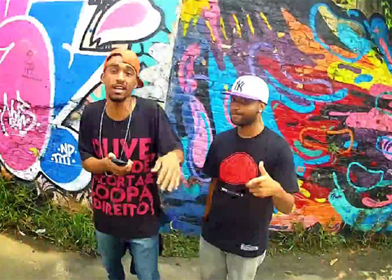 Helibrown e Pé Beatbox no clipe Prova Final
