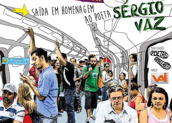 Poetas Ambulantes homenageiam Sérgio Vaz